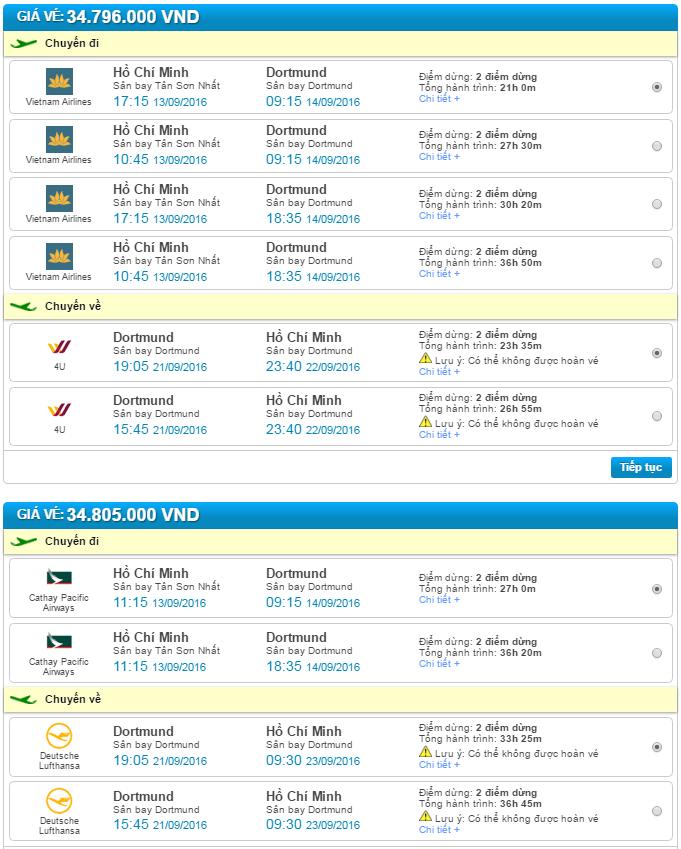 vé máy bay đi dortmund