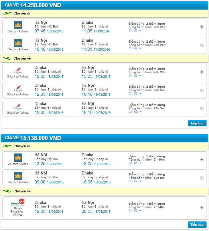 vé máy bay hà nội đi bangladesh