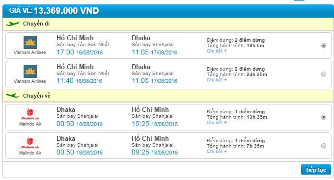 vé máy bay sài gòn đi bangladesh