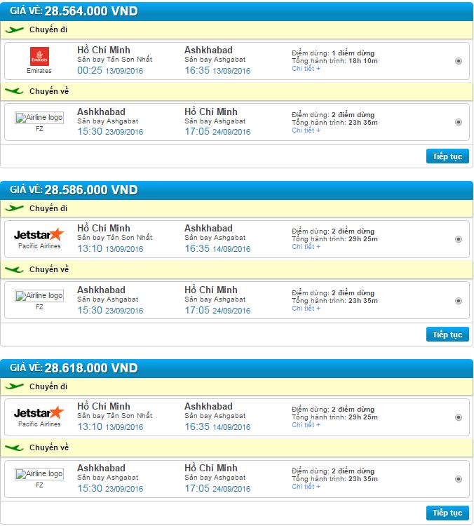 đặt vé máy bay đi ashgabat