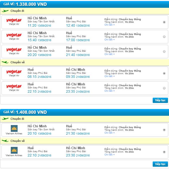 bảng giá vé máy bay trực tuyến