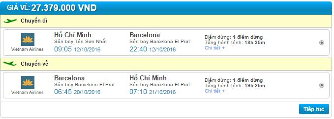 vé máy bay vietnam airlines đi barcelona