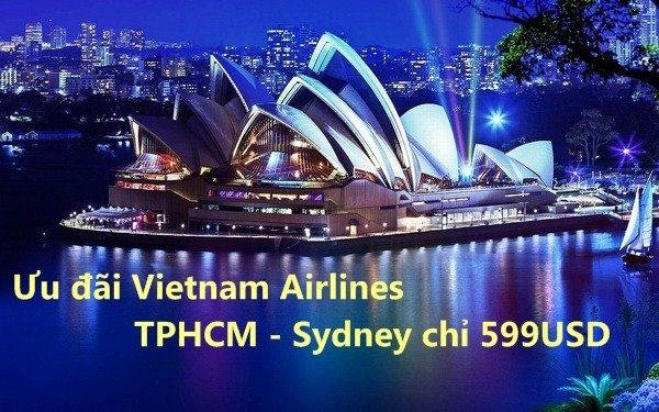 ve may bay vietnam airlines di sydney