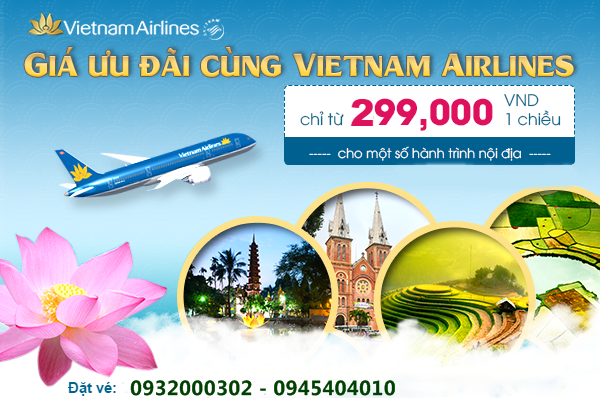 ve may bay vietnam airlines di nha trang