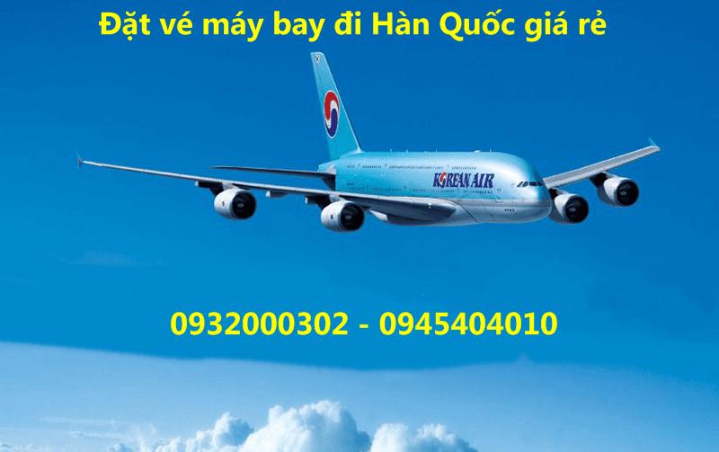 ve may bay di han quoc