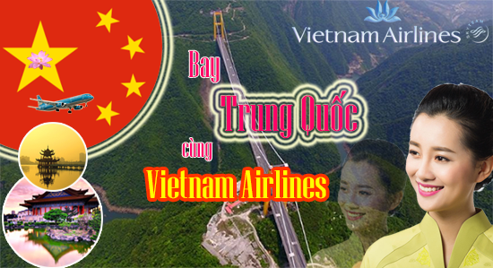 ve may bay di trung quoc vietnam airlines