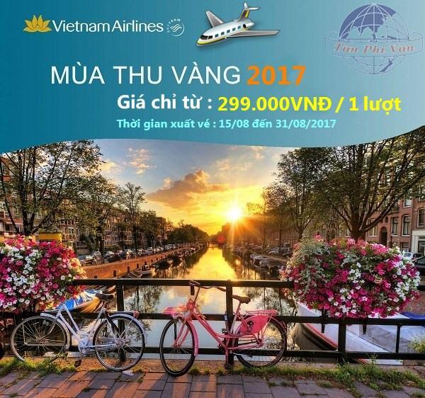 Chương trình khuyến mãi Mùa Thu Vàng 2017 của Vietnam Airlines